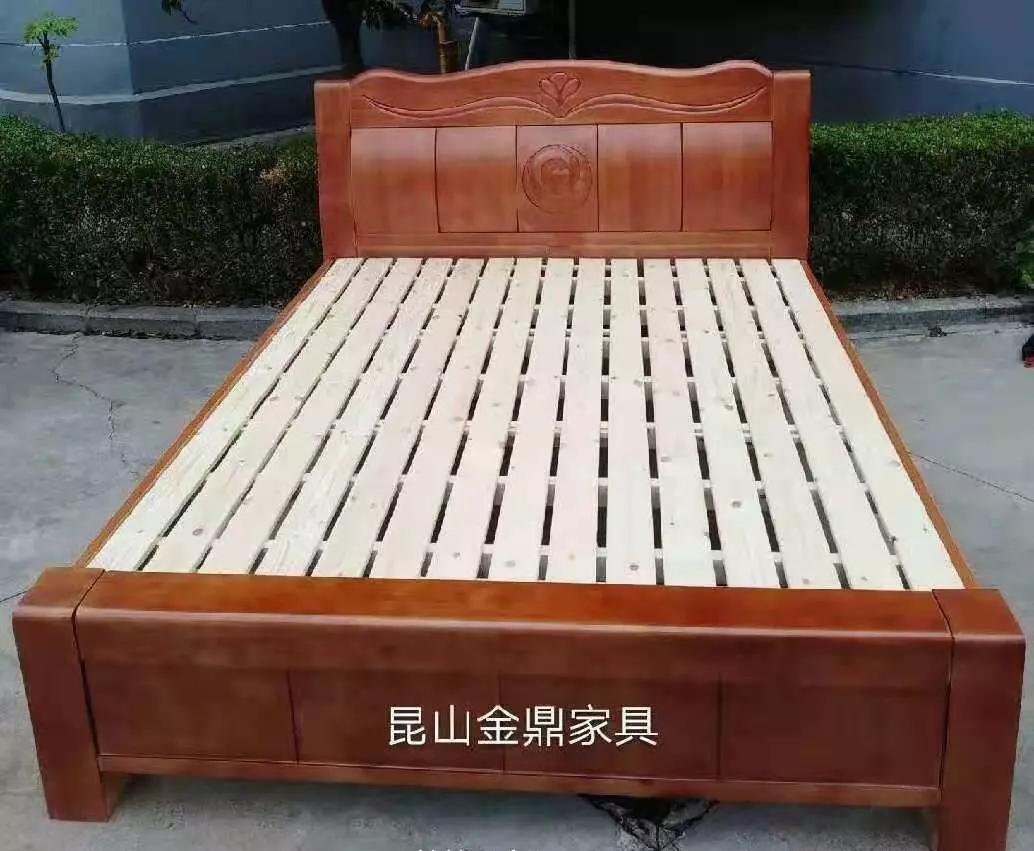 工厂亏本甩卖~全新高档橡木床,双人床