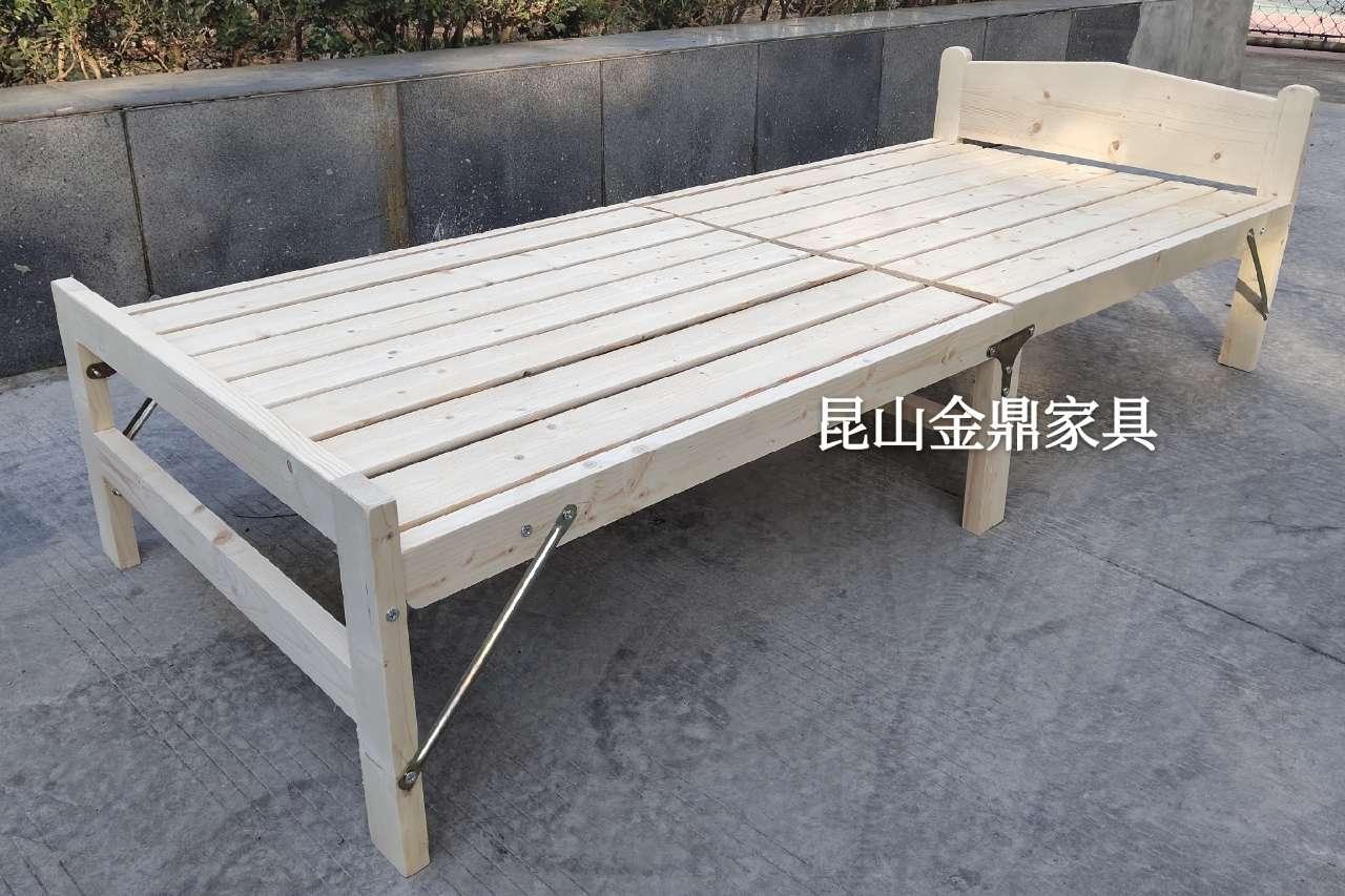 工厂亏本甩卖折叠床,全新实木床
