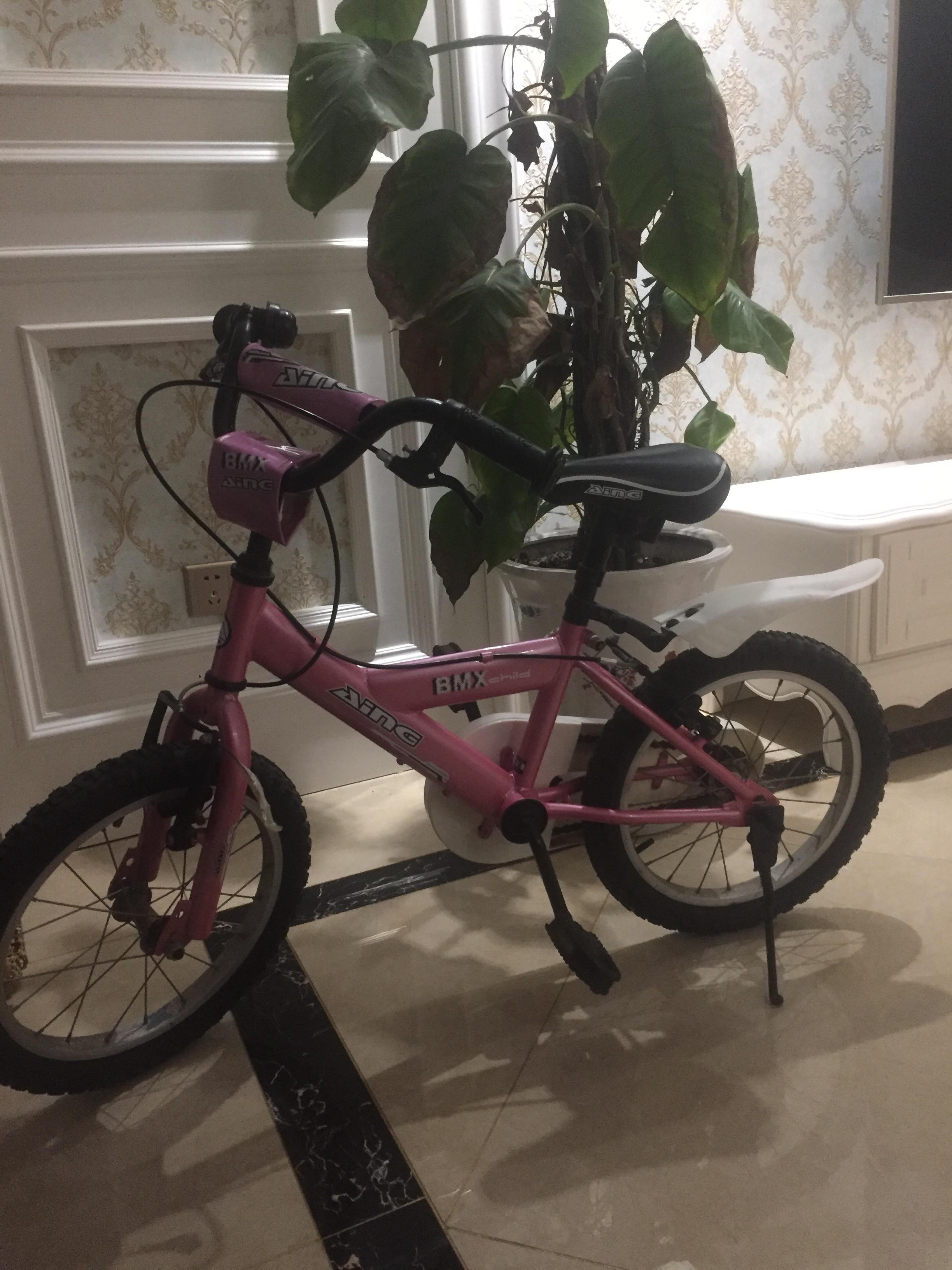 9成新AING16寸儿童自行车软让