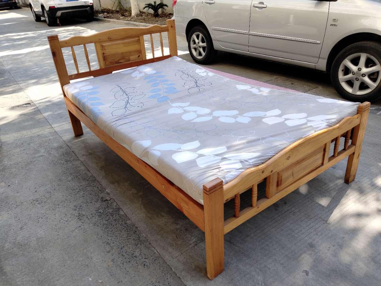 9层新实木床,含厚垫子