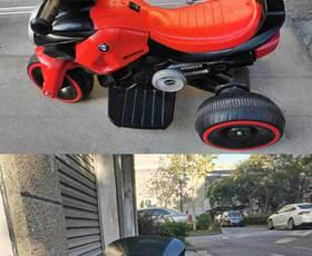 儿童电动车摩托车电动三轮车 可骑行