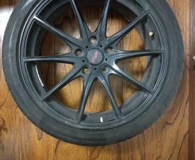 spsc 轮毂一套,带九成新轮胎